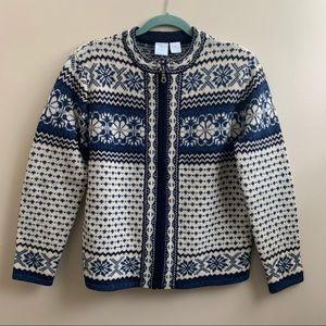Norwegian wool ski winter sweater M petite